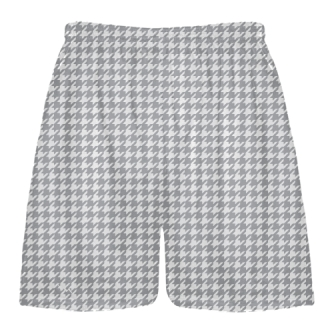 Medium Gray Houndstooth Shorts - Sublimated Shorts