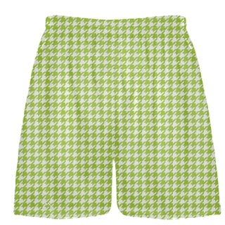 Neon Green Houndstooth Shorts - Sublimated Shorts
