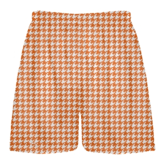 Orange Houndstooth Shorts - Sublimated Shorts