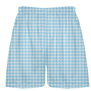 Powder Blue Houndstooth Shorts - Sublimated Shorts