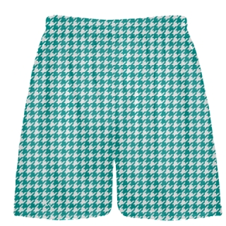 Teal Houndstooth Shorts - Sublimated Shorts
