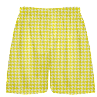 Yellow Houndstooth Shorts - Sublimated Shorts