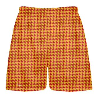 Red Gold Houndstooth Shorts - Sublimated Shorts