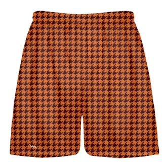 Orange Maroon Houndstooth Shorts - Sublimated Shorts