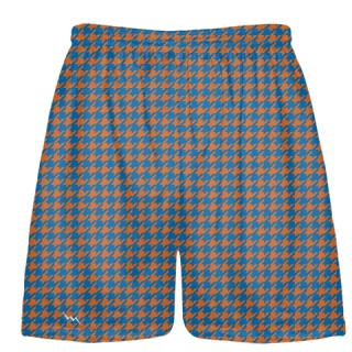 Orange Blue Houndstooth Shorts - Sublimated Short
