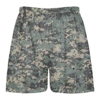 Army Camouflage Lacrosse Shorts