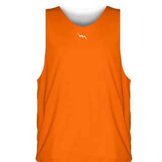 Orange White Sublimated Basketball Jerseys - Custom Basketball Uniforms
