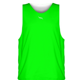 Neon Green White Sublimated Basketball Jerseys - Custom Basketball Uniforms