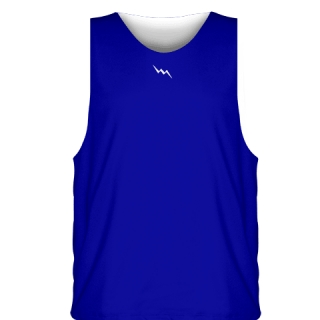 Royal Blue White Sublimated Basketball Jerseys - Custom Basketball Uniforms