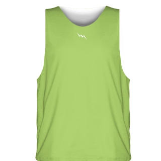 Lime Green White Sublimated Basketball Jerseys - Custom Basketball Uniforms