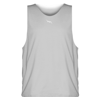 Silver Sublimated Basketball Jerseys - Custom Basketball Uniforms