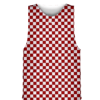Red Checker Sublimated Basketball Jerseys - Custom Basketball Uniforms
