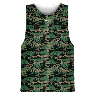 Digi Camo Green Basketball Jerseys - Custom Basketball Uniforms