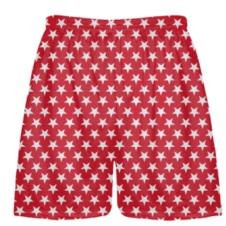 Red White Stars Shorts - Sublimated Shorts