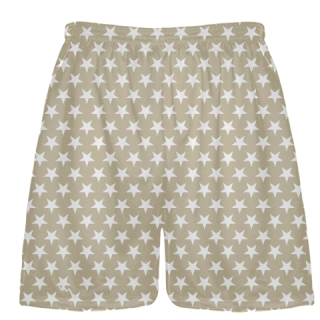 Vegas Gold White Stars Shorts - Sublimated Shorts