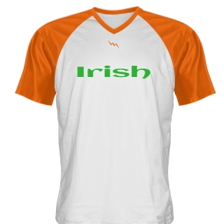 White Orange Irish Shirt