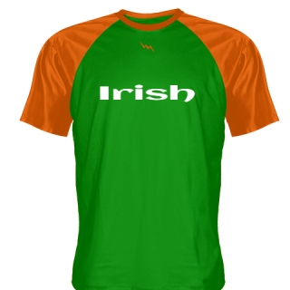 Orange Green Irish Shirt