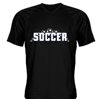 Black Soccer Jerseys V Neck