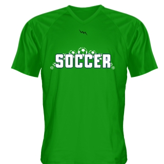 Kelly Green Soccer Jerseys V Neck