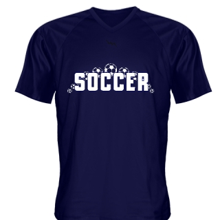 Navy Blue Soccer Jerseys V Neck