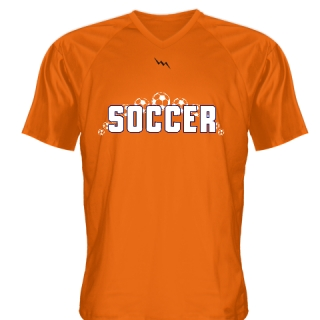 Orange Soccer Jerseys V Neck