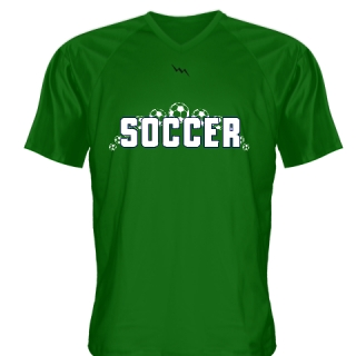 Dark Green Soccer Jerseys V Neck