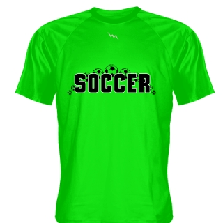 Neon Green Soccer Jerseys V Neck