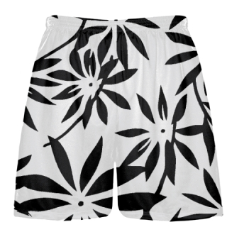 Black Hawaiian Lacrosse Shorts - Black Hawaiian Basketball Shorts