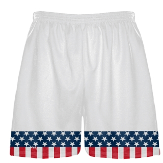 American Flag Banner Lacrosse Shorts - USA Flag Basketball Shorts