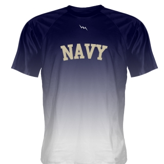 Navy Blue White Ombre Navy Shirt - Custom Naval Academy Shirt
