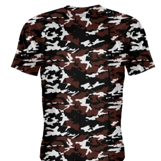 Black Maroon Camouflage Shirts - Sublimated Camo Shirts