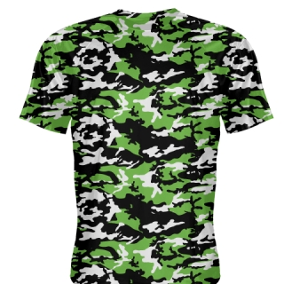 Black Neon Green Camouflage Shirts - Sublimated Camo Shirts
