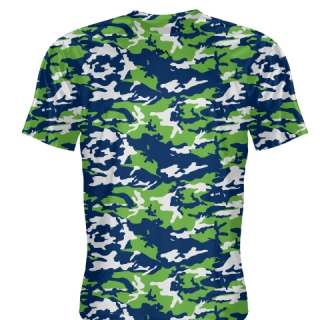 Neon Green Blue Camouflage Shirts - Sublimated Camo Shirts