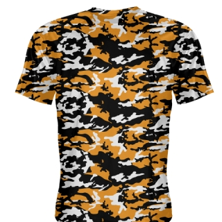 Orange Black Camouflage Shirts - Sublimated Camo Shirts
