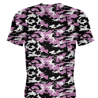 Pink Black Camouflage Shirts - Sublimated Camo Shirts