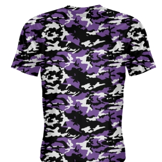 Purple Black Camouflage Shirts - Sublimated Camo Shirts