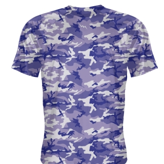 Purple White Camouflage Shirts - Sublimated Camo Shirts
