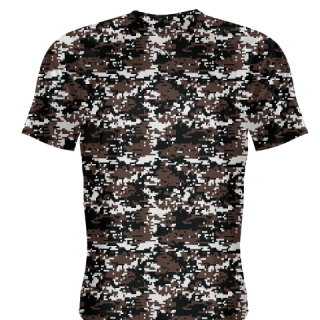 Brown  Digital Camouflage Shirts - Adult & Youth Camo Shirts