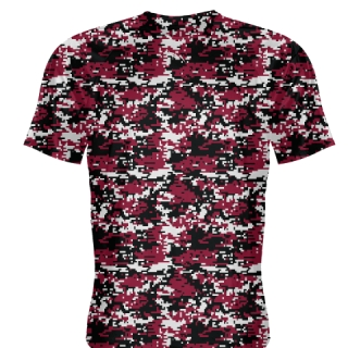 Cardinal Red Digital Camouflage Shirts - Adult & Youth Camo Shirts