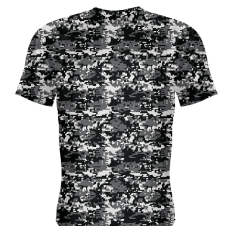Black Charcoal Digital Camouflage Shirts - Adult & Youth Camo Shirts