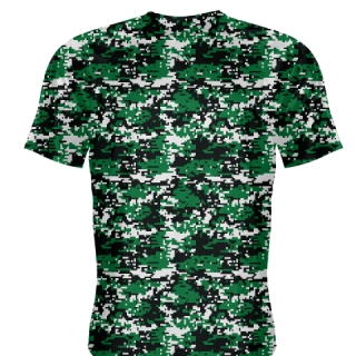Dark Green Digital Camouflage Shirts - Adult & Youth Camo Shirts