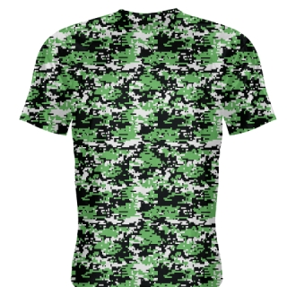 Kelly Green Digital Camouflage Shirts - Adult & Youth Camo Shirts