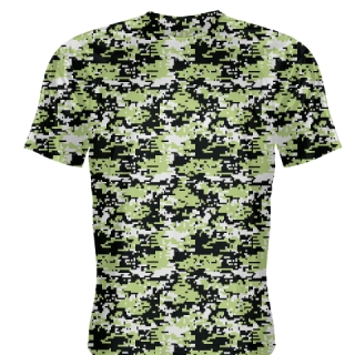Lime Green Digital Camouflage Shirts - Adult & Youth Camo Shirts
