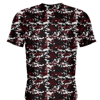 Maroon Digital Camouflage Shirts - Adult & Youth Camo Shirts