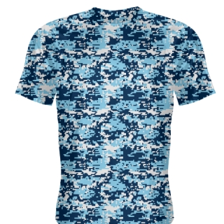 Blue Light Blue Digital Camouflage Shirts - Adult & Youth Camo Shirts