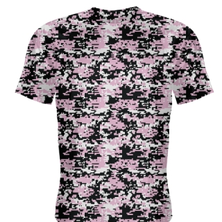 Pink Black Digital Camouflage Shirts - Adult & Youth Camo Shirts