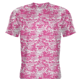 Pink Hot Pink Digital Camouflage Shirts - Adult & Youth Camo Shirts