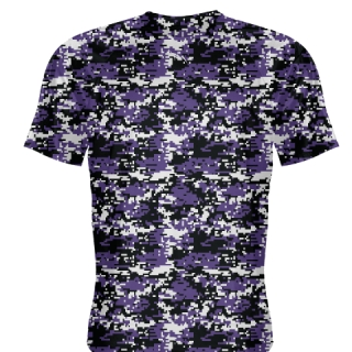Purple Black Digital Camouflage Shirts - Adult & Youth Camo Shirts