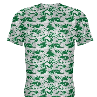Dark Green Gray Digital Camouflage Shirts - Adult & Youth Camo Shirts
