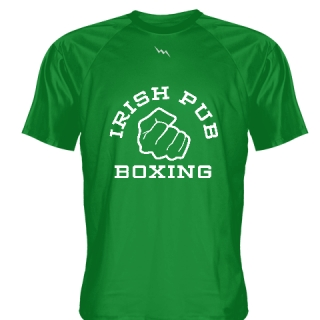 Irish Pub Boxing T Shirt Green